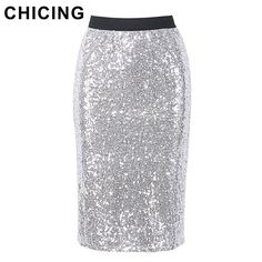 bacd00ca8eaafd Women Fashion Sequined Bling Bling Midi Skirt Spring New Party Club Sexy  Vintage Skirts. Hohe TailleVintage-rockPaillettenBillige KleidungRöckeDamenmode  ...