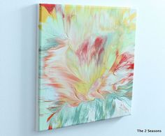 Ok - mine would NEVER look this good but still a cool idea --- diy Hometalk :: Create Your Own Modern Art (EASY!)
