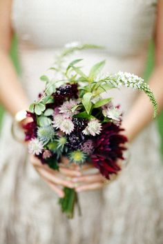 Pretty #wildflower bouquet by Poppies and Posies @phillygirl33 #weddingbouquet #bridesmaids