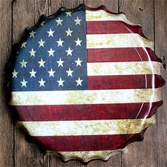 Yanqiao Large Retro 3D American Flag Logo Bottle Cap Tin Signs Wall Decor Diameter 157 >>> You can get additional details at the image link.