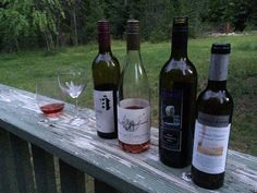 BC wine shared by friends includes Hillside Winery's Merlot (Naramata BC), Baillie Grohman's Blanc de Noirs Rose (Creston, BC), Kermode's Black Huckleberry wine (Dewdney, BC) and Prospect Winery's Admiral Shorts Okanagan Tawny Port Style