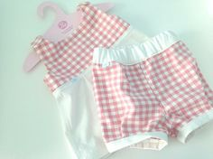 Retro šatôčky pre bábätko (červené) by pup - SAShE.sk - Handmade Detské oblečenie