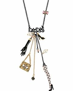 PARIS CHARM Y NECKLACE - Betsey Johnson 2013