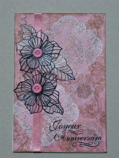 115 papier KCOMPANY, tampon viva décor, et penny black stamps petal party sur rhodoïde, tampon la compagnie des elfes