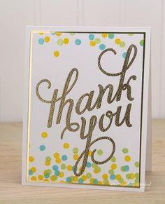 thank you by Kimberly Crawford - Cards and Paper Crafts at Splitcoaststampers