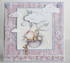 Another fun baby image from Lili of the Valley ! I've needed quite a few baby cards lately and these were perfect! Baby Crafts, Diy And Crafts, Handmade Stamps, Handmade Cards, Baby Barn, Baby Images, All Things Cute, Lily Of The Valley, Cool Baby Stuff