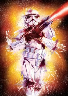 Stormtrooper - Illustration: 'Pop Attack' Exhibition by Lun Wong, via Behance