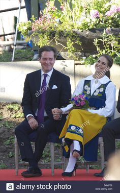 Stockholm, Spain. 6th June, 2013. Christopher O'Neill and Princess Madeleine of Sweden attend the celebrations at Skansen during the National Day Celebrations on June 6, 2013 in Stockholm, Sweden. (Credit Image: Credit:  Jack Abuin/ZUMAPRESS.com/Alamy Live News) Stock Photo