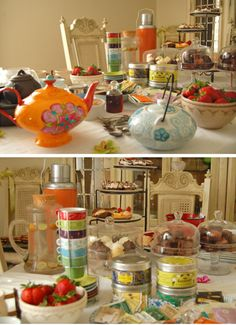 Baby Shower Tea.  Has a wonderful combination of a traditional and modern feel.  Remember decaff teas for mom-to-be!