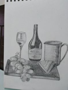 Still Life Sketch, Still Life Drawing, Sketches, Drawings, Painting, Art, Art Background, Painting Art, Kunst
