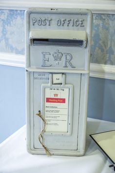 Very real looking silver post box for your guests' lovely messages and cards.