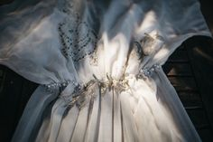 Heirloom vintage wedding dress   SouthBound Bride #greenery #wedding   http://www.southboundbride.com/naturally-vintage-wedding-at-volmoed-by-kikitography-angelique-marnus  Credit: Kikitography