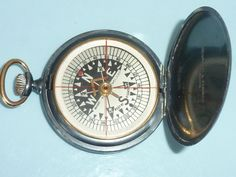 Negretti & Zambra Registered Design 416645 floating Dial Pocket Compass c1900 by UKVintageCurios on Etsy