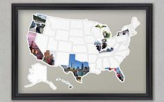 Fill in a map-shaped photo frame | Got great photos taking up space on your smartphone? Here's what to do with them.