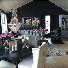 Interior Design Ideas for a glamorous Dining Room Home Living Room, Living Room Designs, Living Room Decor, Living Spaces, Bedroom Decor, Dining Room, Living Room Inspiration, Home Decor Inspiration, Decor Ideas