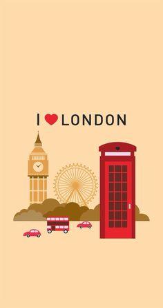 Image via We Heart It #BigBen #ferriswheel #london #peach #red #telephonebooth #wallpaper #ilovelondon