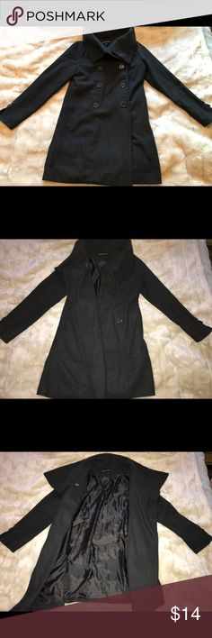 Cute grey pea coat Stylish dark grey pea coat that looks great dressed up or dressed down. Worn only a few times and no rips or tears! Great versatile piece to add to any winter closet. Size M by Ambiance Apparel. Ambiance Jackets & Coats Pea Coats
