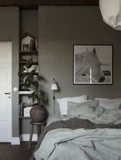 Boy Room: See 75 creative ideas and designs with photos - Home Fashion Trend Bedroom Green, Small Room Bedroom, Cozy Bedroom, Bedroom Storage, Bedroom Wall, Bedroom Decor, Scandinavian Bedroom, Design Bedroom, Bedroom Lamps