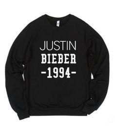 Justin Bieber -1994--Unisex Black Sweatshirt