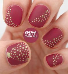 Matte Christmas. This is so classy, I wish I'd brought my nail art tools to Pittsburgh.