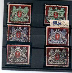 Gdansk Michel 87-89 in x and y. Used expertized, Infla genuine    Dealer  PPH Asbit    Auction  Minimum Bid:  160.00EUR