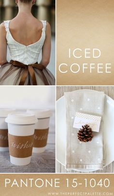 Pantone - Iced Coffee 15-1040   Iced Coffee is the kind of color that exudes a cozy feel. And when it comes to color pairings? I can't tell you how much I'm loving the whole monochromatic look, here lately!