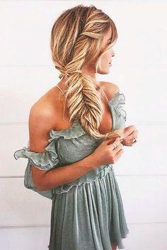 gorgeous fishtail braid