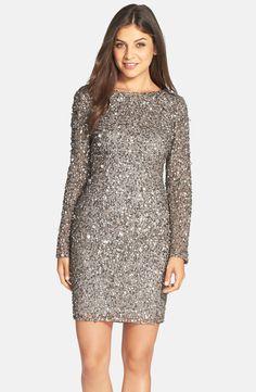 Adrianna PapellEmbellished Scoop Back Cocktail Dress (Regular & Petite) $229 @ Nordstrom