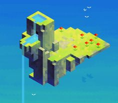 Floating island made by etall. Hexels.