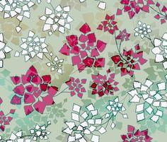 water caltrop lake fabric by ravynka on Spoonflower - custom fabric