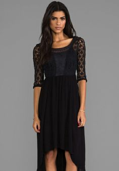 FREE PEOPLE Lonesome Dove Dress in Black - Dresses