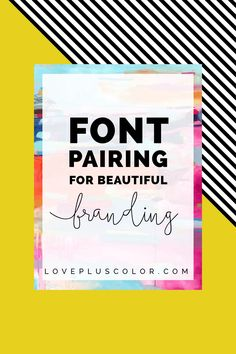 The perfect font combo is truly a balance between art and science. I'm quite font obsessed and I'll admit that I'm a stage 5 font hoarder. I become more excited about buying fonts than buying anything else these days. Beautiful, well-designed branding has two visual fundamentals – a color & a font palette. These two …
