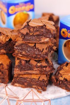 Discover recipes, home ideas, style inspiration and other ideas to try. Orange Brownies, Chocolate Orange Cheesecake, Chocolate Orange Cookies, Chocolate Brownies, Mini Patisserie, Patisserie Vegan, Janes Patisserie, Brownie Recipes, Chocolate Recipes
