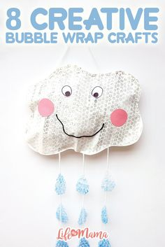Bubble Wrap Craft: Keep the classroom fun! Not only will you bring some cheer with these fun DIYs, but also teach the importance of reduce, reuse, recycle. Bubble Wrap Crafts, Diy And Crafts, Crafts For Kids, Bug Crafts, Children Crafts, Easy Crafts, Diy Hanging Shelves, Diy Home Decor Projects, Mason Jar Diy