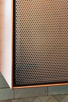 Perforated metal joinery front Further Lane Kitchen - Robert Young Architecture & Interiors Metal Furniture, Industrial Furniture, Furniture Design, Furniture Market, Repurposed Furniture, Luxury Furniture, Joinery Details, Interior Architecture, Interior Design