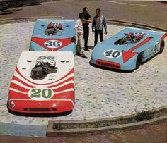 Porsche 908s with John Wyer, Joseph Siffert and Vic Elford, for the Targa Florio 1970.