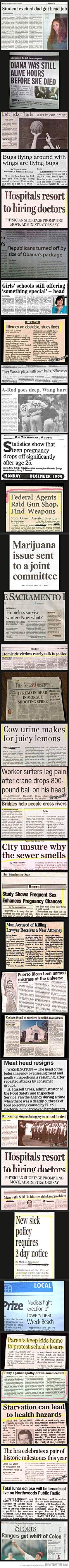 When newspaper headings reach a new low… Ummmm.. What? Lol.
