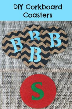 DIY Painted Cork Board Coasters - inexpensive DIY that you can customize and personalize however you want for a fun and creative holiday gift! :: Creative Cork Board Coaster Ideas#diy #christmas