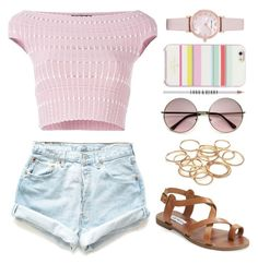 fun weekend by skyespark4444 on Polyvore featuring polyvore moda style Alexander McQueen Levi's Steve Madden Emporio Armani Kate Spade Lord & Berry fashion clothing