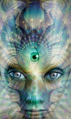 Third eye chakra = open your eyes to all worlds and portals
