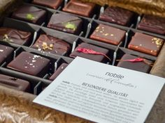 nobile-cioccolato Pralines - http://olschis-world.de/  #nobile #chocolate #pralines