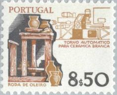 Znaczek: History produktiemiddelen (Portugalia) (Instruments Working) Mi:PT 1536,Sn:PT 1371,Yt:PT 1511,Afi:PT 1369