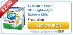 $2.00 off 1 Fresh Step Lightweight Extreme Litter