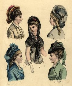 Hats from the early 1870's