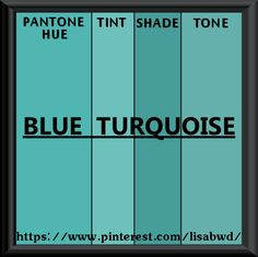 PANTONE SEASONAL COLOR SWATCH BLUE TURQUOISE