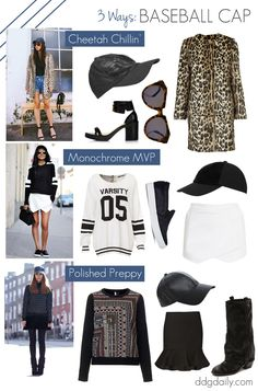 Home run: Three baseball cap outfit ideas to get you inspired