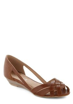 Gal About Town Wedge in Cognac, #ModCloth