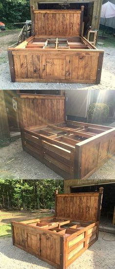 Lovely Bed Made By Pallets