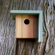 I don't think I've ever wanted a Birdhouse before, but now I do | Birdhouse, Modern Minimalist- The Right Angle. $75.00, via Etsy.