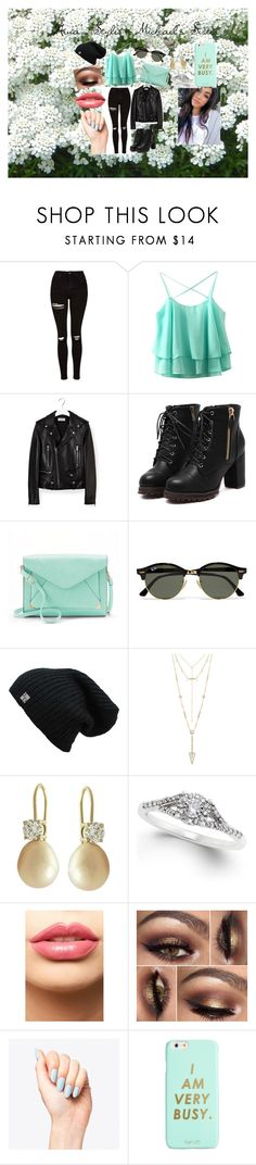 """Nina's Style - Michael's Sister"" by socialrejectss on Polyvore featuring Topshop, Yves Saint Laurent, Apt. 9, Ray-Ban, House of Harlow 1960, LASplash and ban.do"